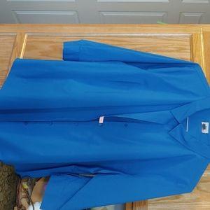 Blue plus size button down